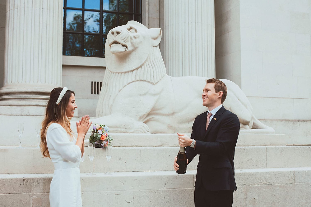 Old Marylebone Town Hall wedding photography in London