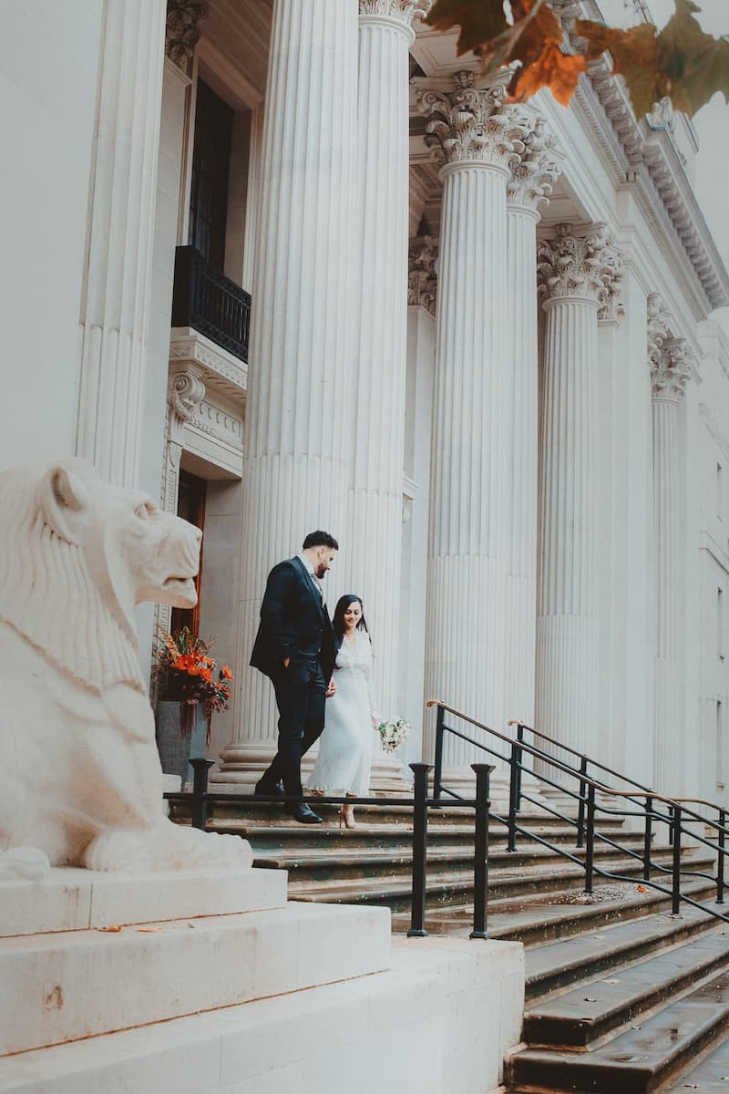 Wedding photography at Old Marylebone Town Hall in London