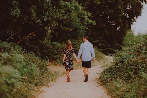 Romantic Engagement Photoshoot, Richmond Park