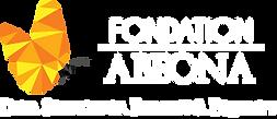 Logo Fondation Abeona avec tagline en bl