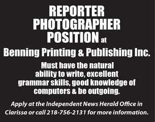 Reporter Photographer Wanted