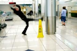 woman slipping