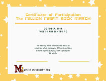 Certificate of Participation The MILLION
