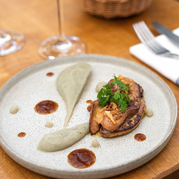 Le foie gras poêlé et crémeux d'artichaut du Chef Jérémy Mathieu