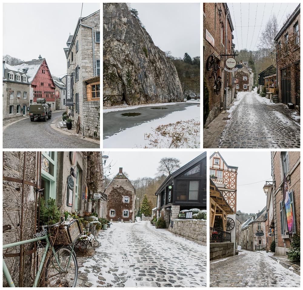 Sneeuw, landelijk, Durbuy