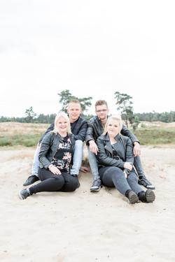 Levi, Dik, Esmee en Bionda