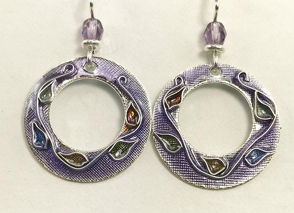 Cloisonne' Hoops_Lavender