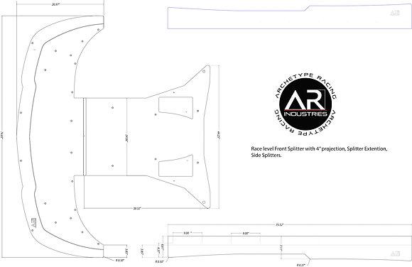 STRATO Front Splitter Extension