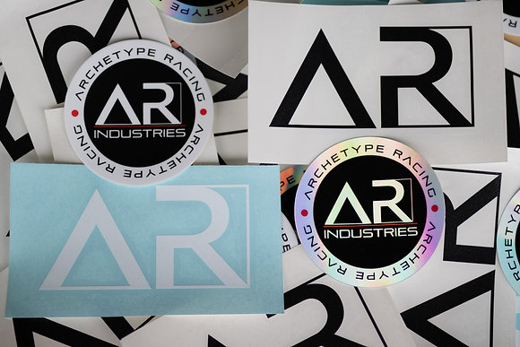 Archetype Racing Round and Die Cut Stickers