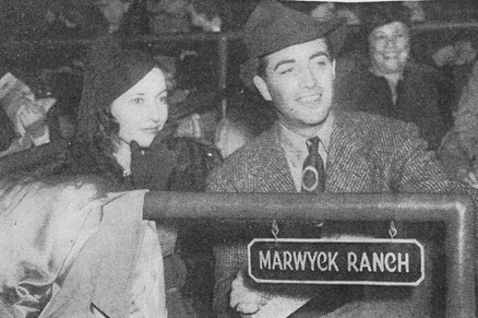 Barbara Stanwyck and Robert Taylor at Santa Anita