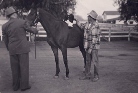 J.H. Ryan with farm manager Flavio Lomax and his son Steve Lomax, Northridge Farms