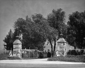 Entrance to Louis B. Mayer Stock Farm - Perris, CA.