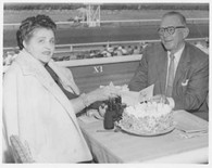 J.H. and Annette Ryan.  Racetrack celebration