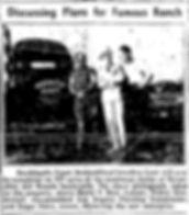 Harry Hart, Zeppo Marx, Walter Mendenhall discuss Marwyck Ranch construction