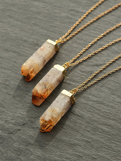"18"" Citrine Necklace"