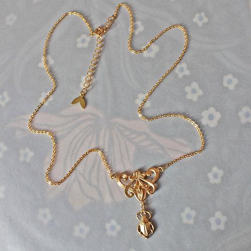 Golden Scarab Necklace