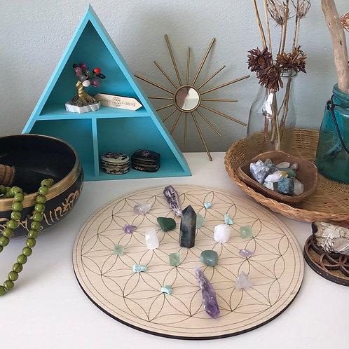 Flower of Life Sacred Geometry Crystal Grid boards / Sacred Space Altars Shrines
