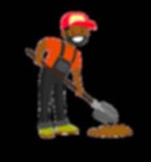 black-farmer-with-a-shovel-on-a-farm-fie