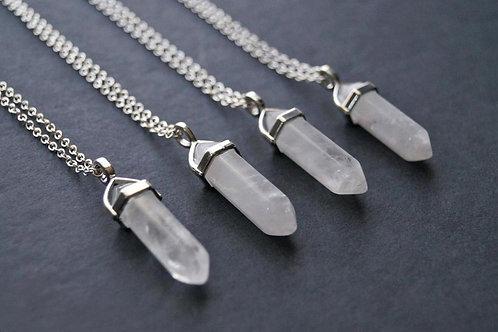 "18"" Quartz Crystal Necklace"