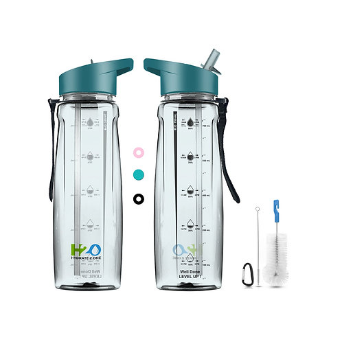 Timed Spill Proof Motivational BPA Free Sports Water Bottle