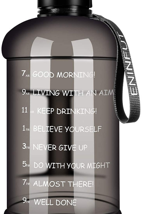 Large Capacity 2.2L Leakproof BPA Free Timer Fitness Sports Water Bottle