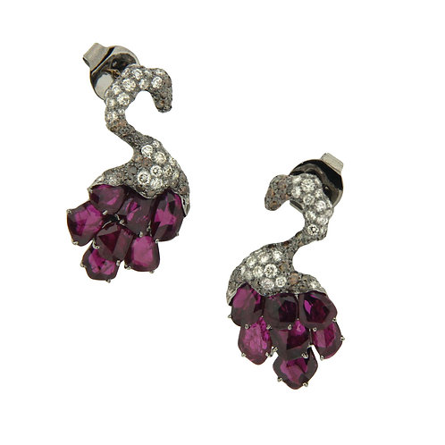 "Ruby ""Swan"" Earrings"
