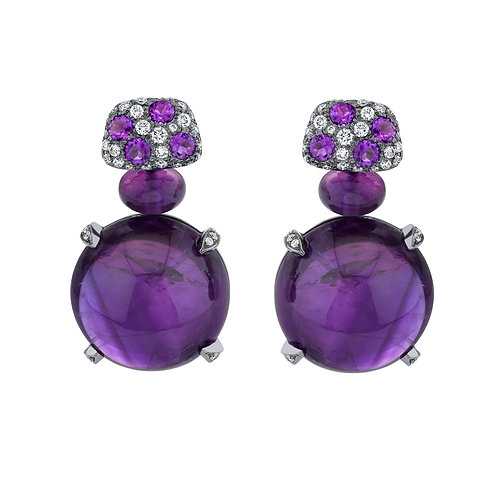 "Amythyst ""Gumball"" Earrings"