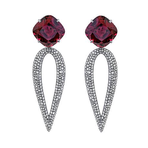 """Rhodolite """"The Red Head"""" Earrings"""