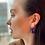 """Thumbnail: Amythyst """"Gumball"""" Earrings"""
