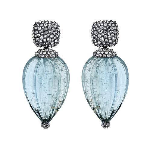 Aquamarine Carvings Detachable Diamond Tops