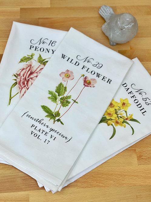 Trio of Botanical Tea Towels