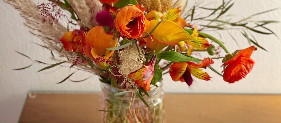 Floral Design in Orange