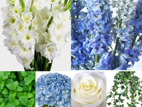 Floral Design Log: Blue & White