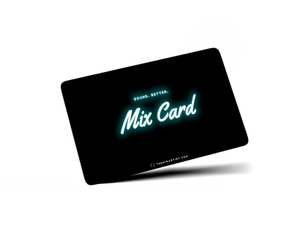 TheMixArtist.com Mix Card - mixing and mastering gift certificate