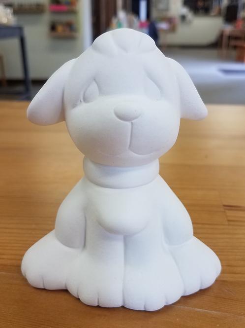 Puffy Puppy w/ Collar