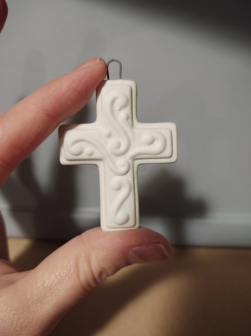 Small Embossed Cross Ornament