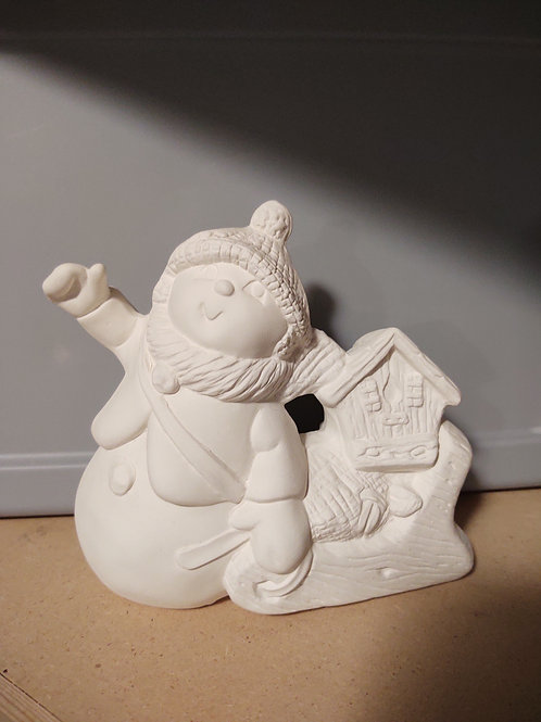Snowman w/ Sled and Birdhouse