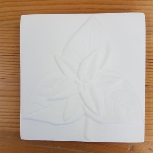 Flower Tile - Trillium