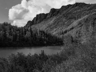Anthracite Ridge, Southcentral Alaska.  Calumet 4x5 Wood Field, 210mm Caltar II-N, Arista Edu Ultra 200.