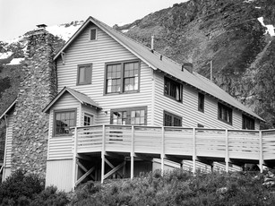 Manager's House, Independence Mine Complex.  Mamiya RB67 Pro SD, 90mm Sekor, Fuji Acros.