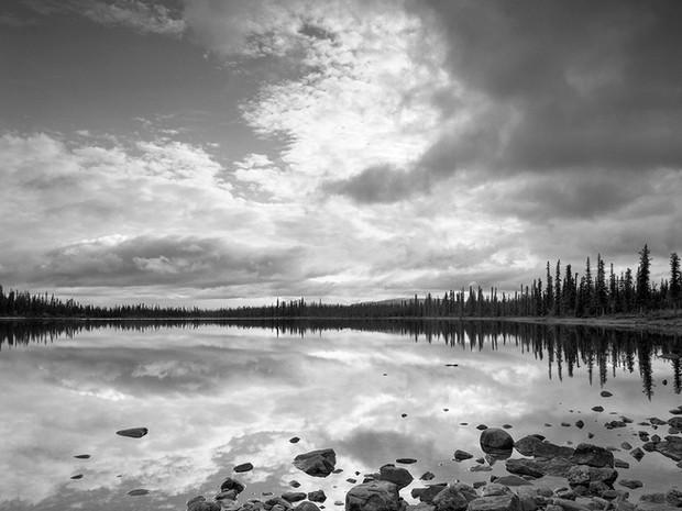 Ryan Lake, Nelchina, Alaska.  Chamonix 045N-2, 90mm Schneider Kreuznach, Kodak TMax 400.