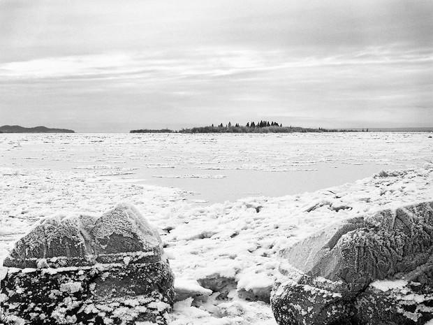 Knik River Winter.  Chamonix 045N-2, 210mm Caltar II-N, Ilford HP5+.