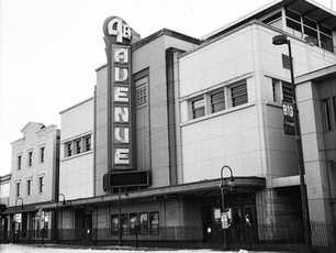 Anchorage's 4th Avenue Theater, built in 1947.  Now slated for demolition sometime in 2019.  Mamiya RB67 Pro SD, 65mm Sekor, Kodak TMax 400.
