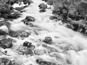 Alpine cascade feeding into Willow Creek.  Toyo 45A II, 150mm Schneider Kreuznach Symmar-S, Kodak TMax 100.