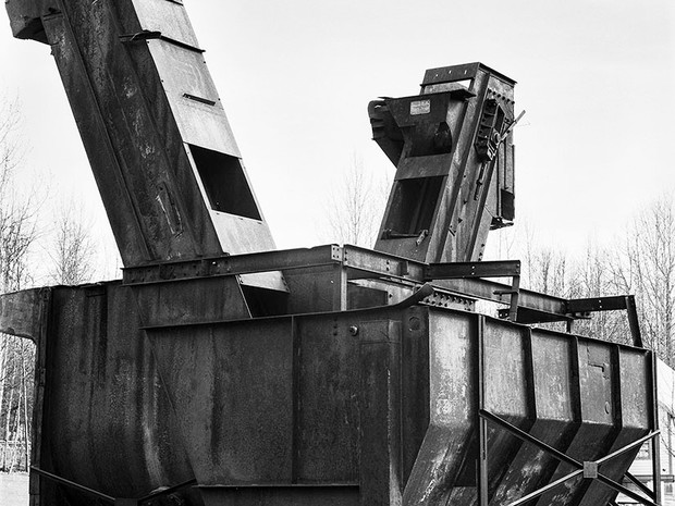 Eska Coal Washery, Alpine Historical Park, Sutton.  Chamonix 045N-2, 90mm Schneider Kreuznach Super Angulon, Kodak TMax 400.