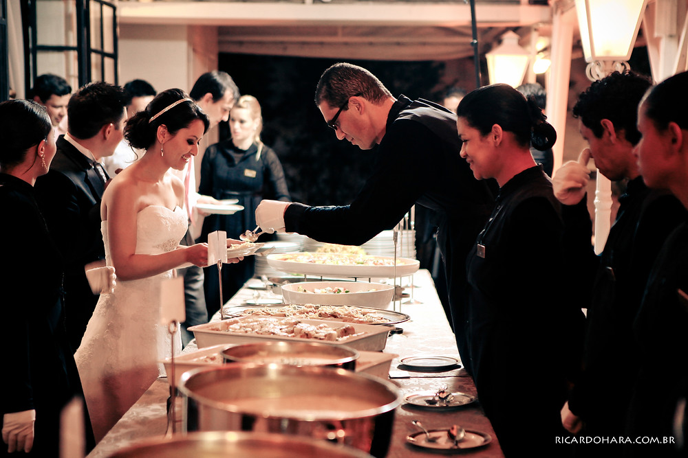 Serviço Franco Americano no Buffet Colonial, banquete, buffet para casamentos, gastronomia