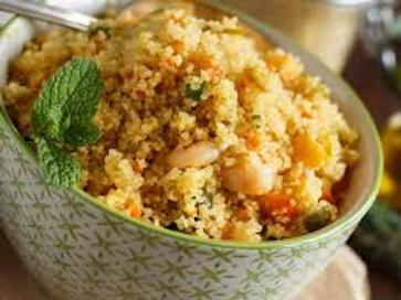 Couscous marroquino com açafrão, frutas secas, romã e hortelã (500 g)