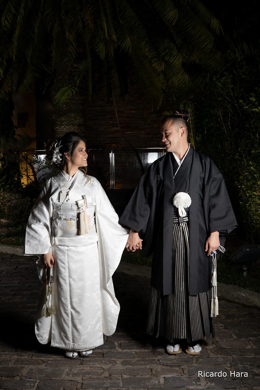 Casamento estilo Oriental Buffet Colonial, kimono casamento