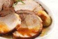 Lombo ao tamarindo, ameixa, nozes e batata rústica no sal grosso e alecrim 1kg