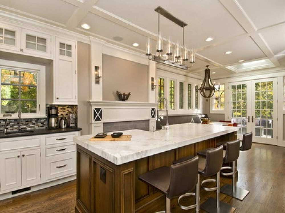 White colored clean luxurious kitchen